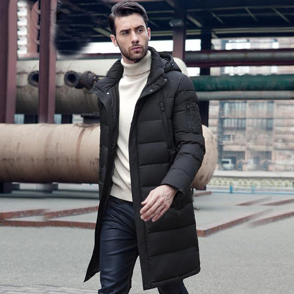 Men's Jacket Long Thick Outwear