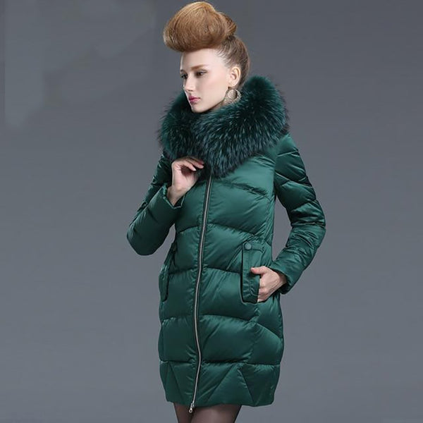 Women's Down Coat Medium-long Thickening Loose Outwear for Winter