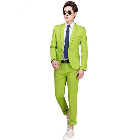 Men's Jacket and Pants Suit Set Plus Size