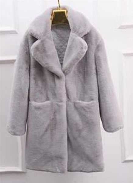 Women's Coat Fur Imitation Lambs Wool Thickening Keep Warm for Winter