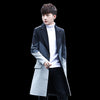 Men's Coat Patchwork Long Stylish Casual Slim Comfortable Trench