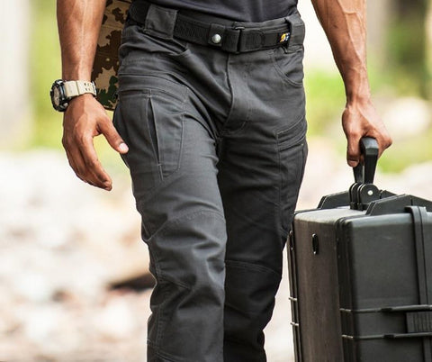 Men's Cargo Pants Waterproof Tactical War Game Slim Casual Military Lycra Fabric