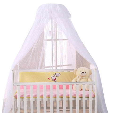 Baby's Crib Mosquito Net Breathable for Round Dome
