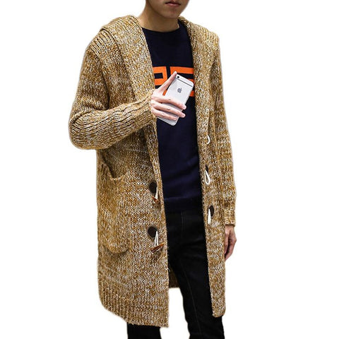 Men's Sweater Plus Size Long Thick Loose for Autumn Winter