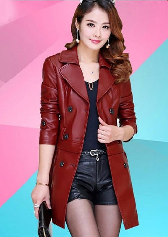 Women's Jacket Korean Slim Sheep Leather Dermal Hem Detachable for Spring