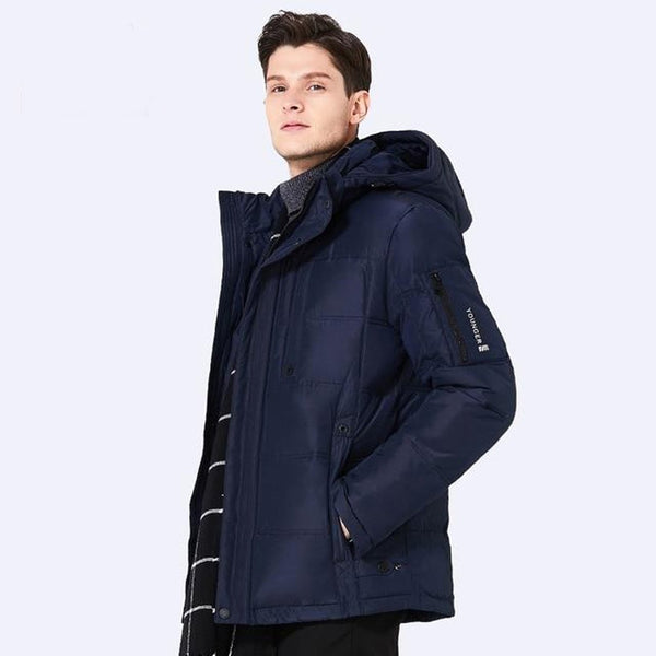 Men's Jacket Breathable Thickening Casual Short Stand Collar for Winter