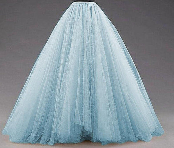 Women's Tutu Skirt Puffy Long Tulle Vintage for Bridal Photoshoots Custom Made Christmas