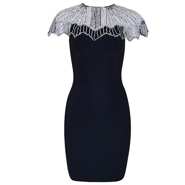 Women's Dress Embellished Bandage for Evening Party