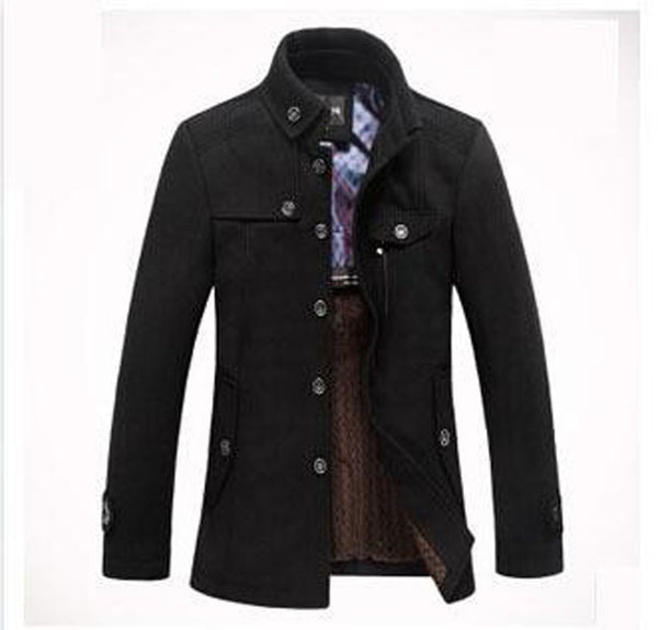 Men's Jacket Wool Casual Thicken Plus Size for Winter