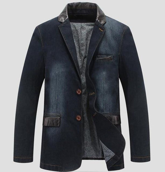 Men's Coat Leisure Cowboy Loose Denim for Autumn