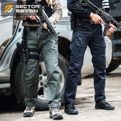 Men's Cargo Pants Lycra Tactical War Game Slim Casual Combat Military Active