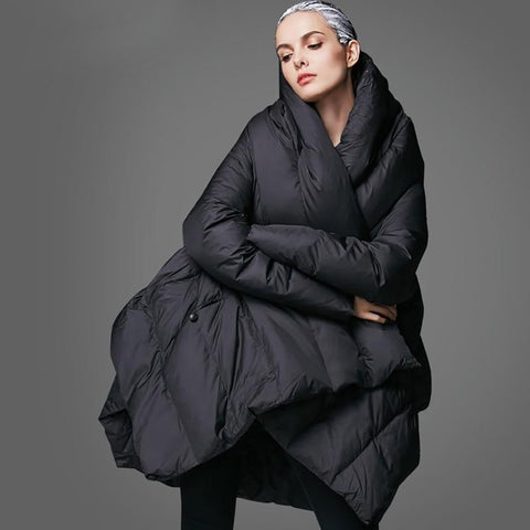 Women's Jacket Cloak Loose Down Warm for Winter