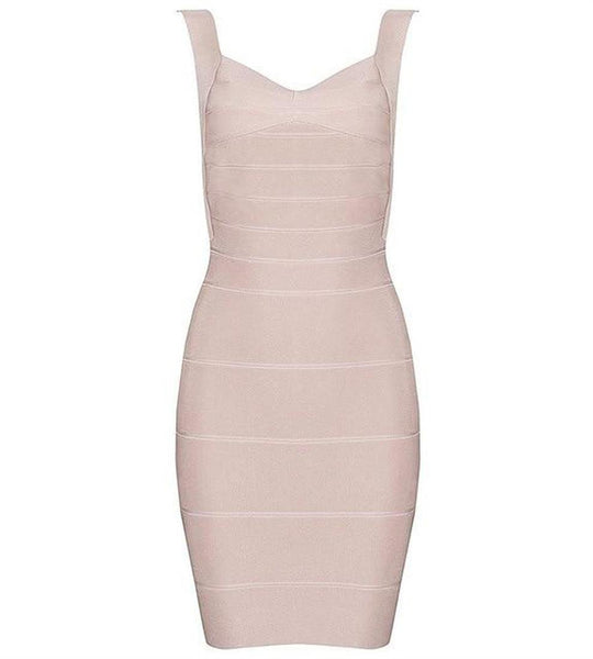 Women's Dress Bandage Backless Spaghetti Strap Mini Bodycon