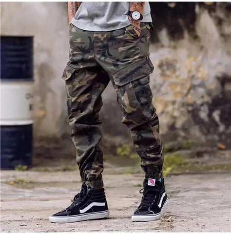 Men's Cargo Pants Casual Camouflage Army Hip Hop Ankle Zipper