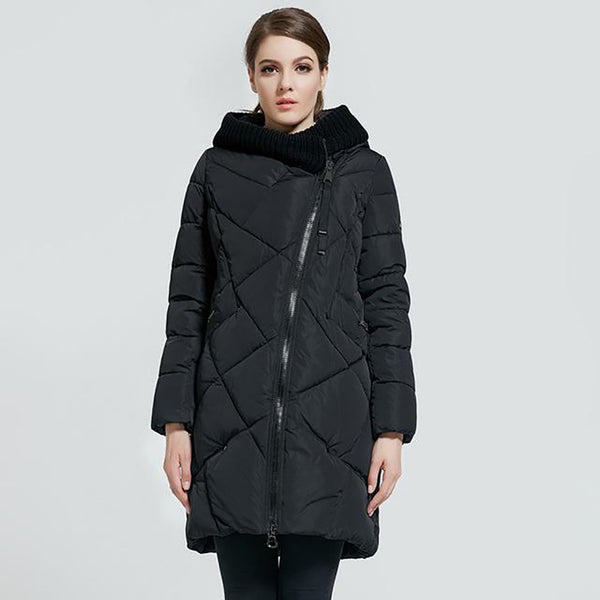Women's Hooded Jacket Plus Size Bio Down Thick for Winter
