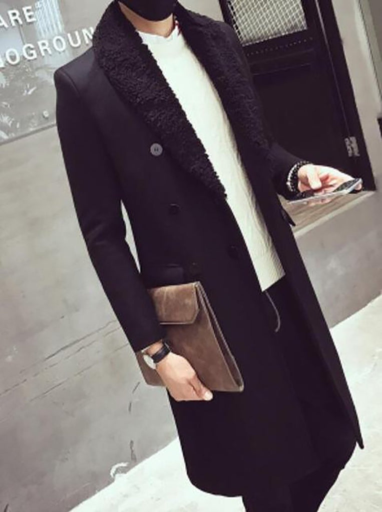Spring Slim Fit Jacket Mens Double Breasted Embroidered Coats DJ Outwear Coat