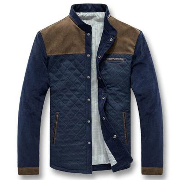 Men's Jacket Casual Slim Fitted Corduroy for Autumn Spring