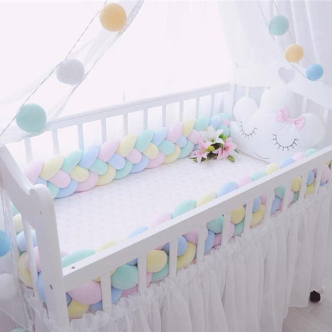 Baby's Bed Bumper Four Ply 200cm Braid Weaving Plush Protector Room Decoration