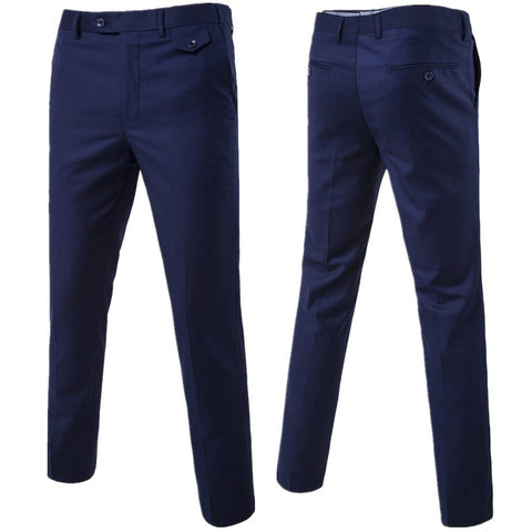 Men's Suit Pants Formal Slim Fit Casual for Business