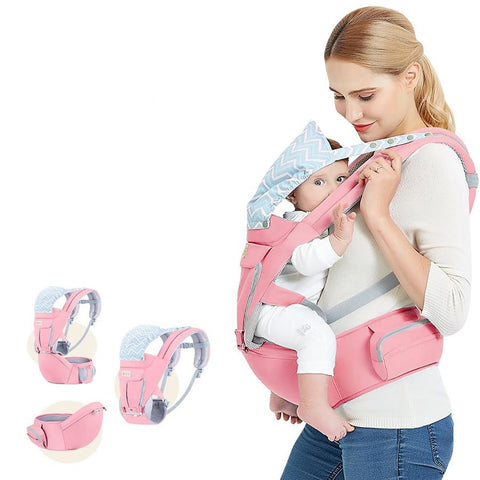 Baby Carrier Multifunction Outdoor Hood Sling Hipseat Adjustable Wrap