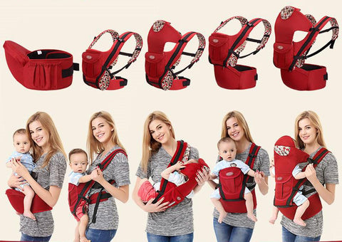 20Kg Baby Carrier Hip Seat Prevent O-type Legs 6 in 1 Style Ergonomic Sling