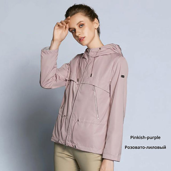 Women's Trench Coat Casual Windbreaker for Autumn