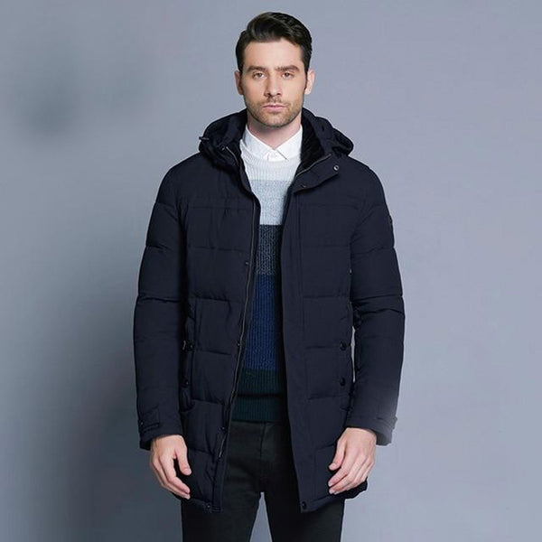 Men's Jacket Soft Fabric Thickening Casual Cotton Mid-long for Winter