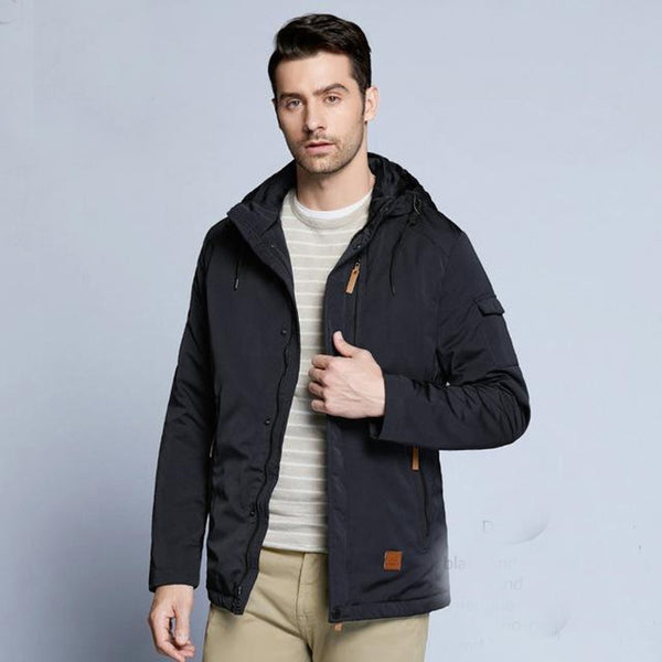 Men's Jacket Pocket Zipper Casual Thin Cotton for Spring Autumn