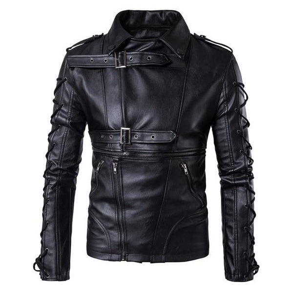 Men's Jacket Leather Motorcycle