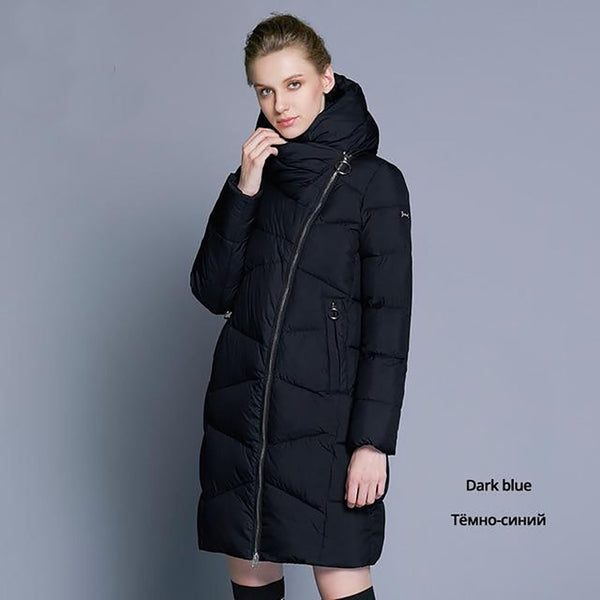 Women's Jacket Casual Long Hooded Thicken Warm for Winter