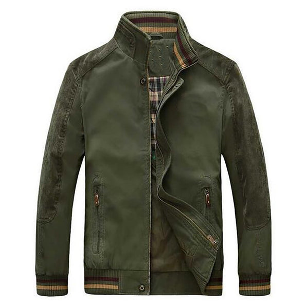 Men's Jacket Plus Size Loose Military Casual Warm for Spring