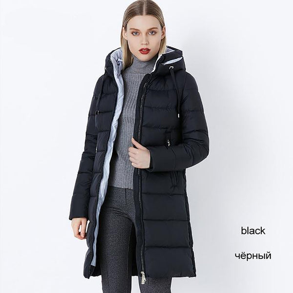 Women's Jacket Thickening Cotton Padded Windproof Hooded for Winter