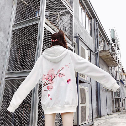 Girl's Hoodies Loose Fitting Hip Hop for Autumn Winter
