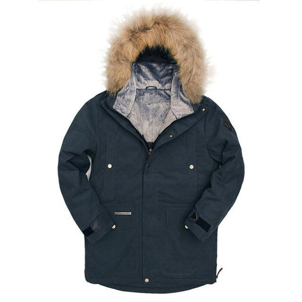 Men's Jacket Natural Fur Down Thick Goose Casual for Winter