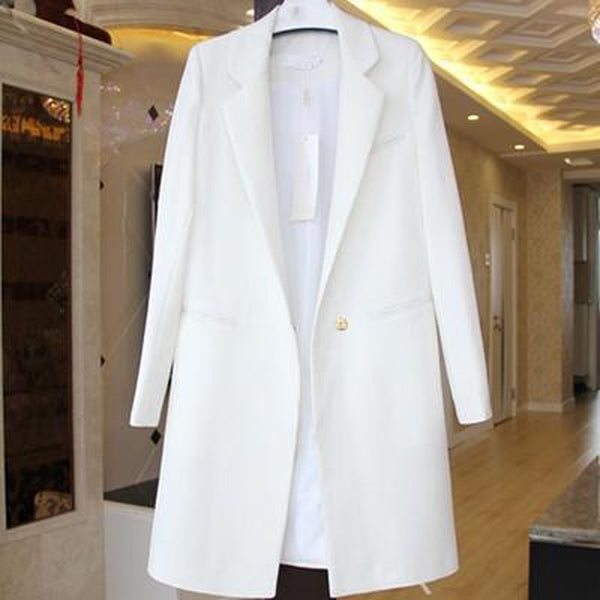 Women's Blazer Casual Long Wide Waisted Plus Size for Spring Autumn