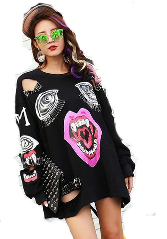 Women's Sweater Printed Loose Casual for Spring