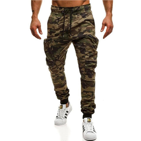 Men's Cargo Pants Casual Slim Fit Large Size Pencil Style for Autumn Spring