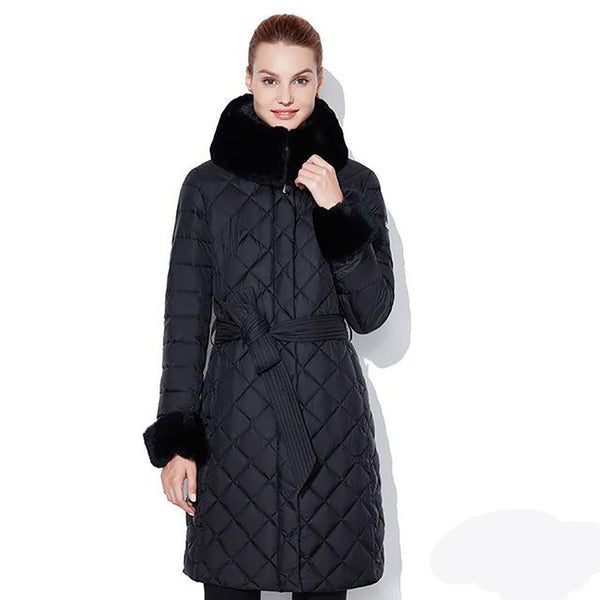 Women's Coat Classic Plus Size Fur Collar Thick for Winter