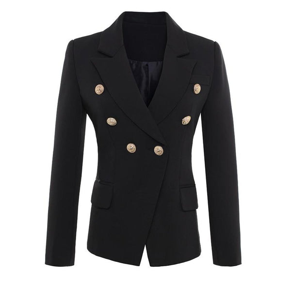 Women's Blazer Buttons Breasted Outwear Plus Size