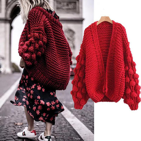 Women's Sweater Long Sleeve Knitted for Spring Winter