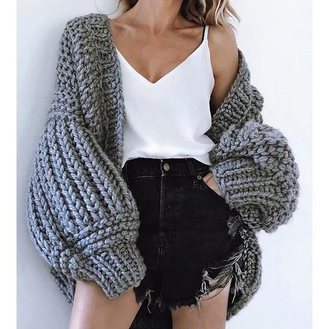 Women's Sweater Knitted Long Sleeves for Winter