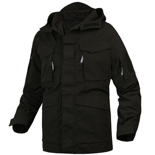 Men's Jacket Hooded Trench Windbreaker for Autumn