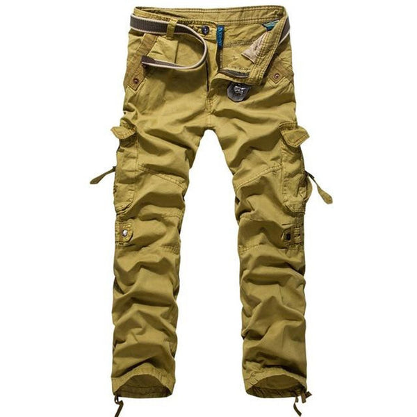 Men's Pants Cotton Casual Military Pockets Work