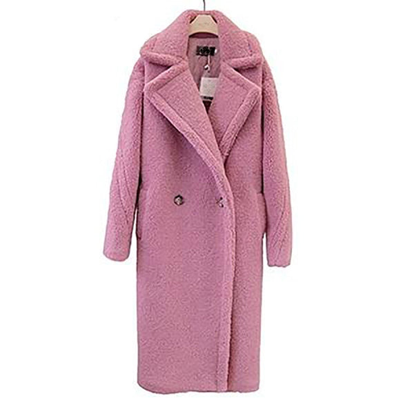 Women's Teddy Coat Faux Fur Long Lamb