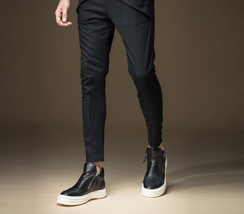 Men's Pants Military Straight Slim Casual Skinny for Autumn