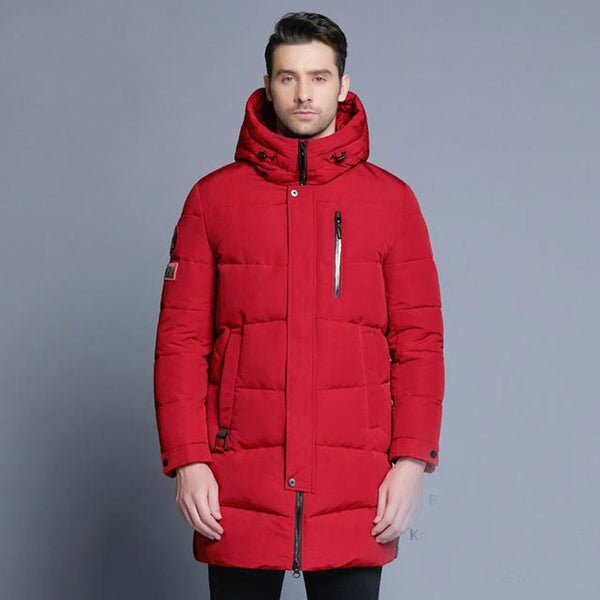 Men's Jacket Warm Windproof Hooded Casual for Winter
