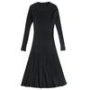 Women's Sweater Dress Knitted Slim O-neck Long Sleeve Warm for Winter