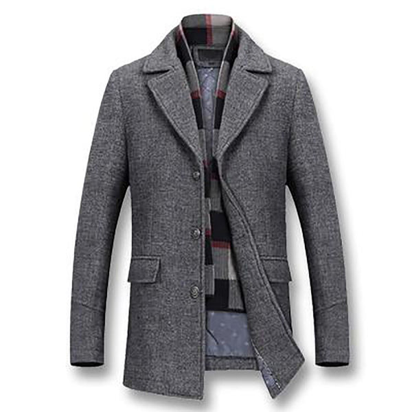 Men's Jacket Thick Cotton Wool Casual Slim Fit Large Size Nylon for Winter