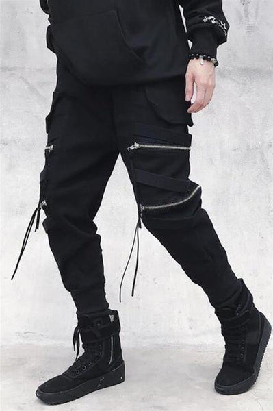 Men's Cotton Pants Hip Hop Elastic Waist for Autumn Summer