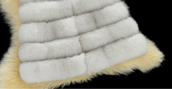 Women's Coat Plus Size Long Advanced Imitation Fox Fur Oversized Thick Warm for Autumn Winter